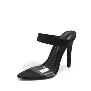 Black Double Strap Mule Heels